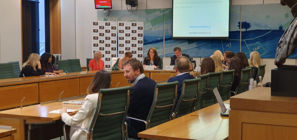 Inquiry into gender representation Broadcast PR services Broadcasters Academy