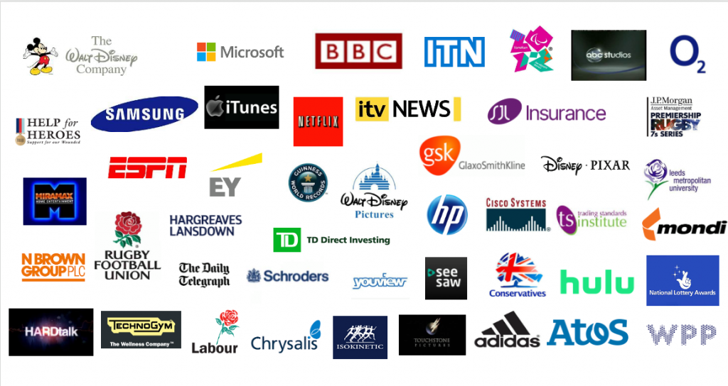 Client logos TV interview training Broadcasters Academy